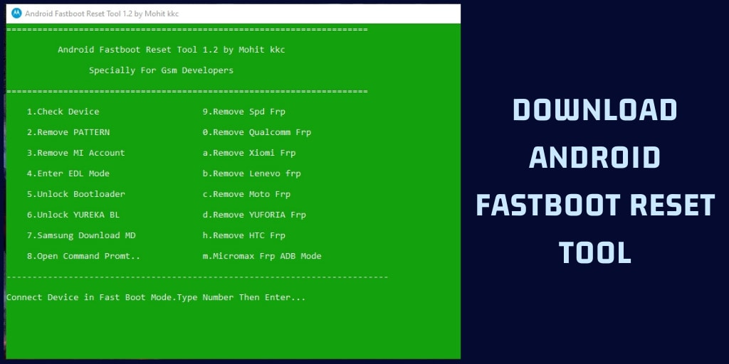 Android Fastboot Reset Tool v1.2