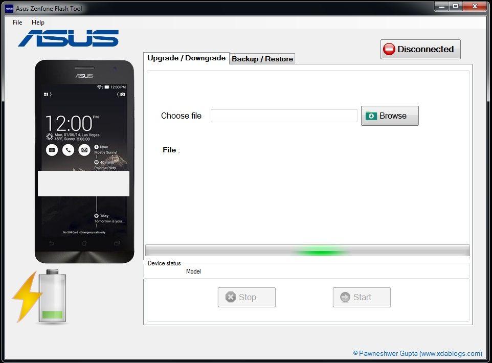 Asus Flash Tool Screens