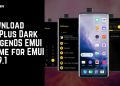 Download OnePlus Dark OxygenOS EMUI Theme for EMUI 109.1