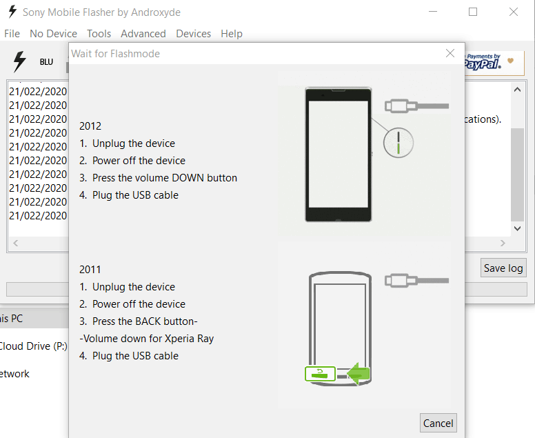 Sony Mobile Flasher guide 3