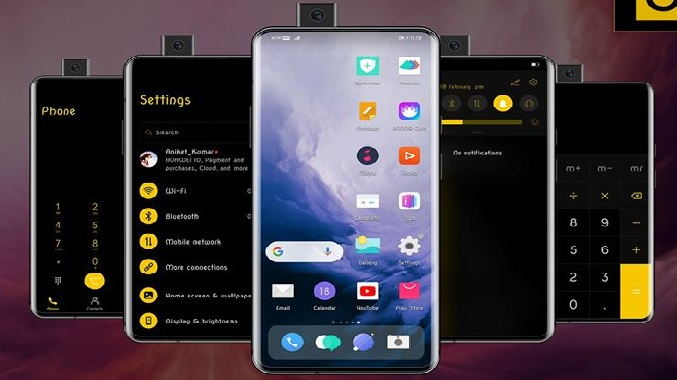 oxygenos dark theme screens