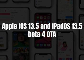 Apple iOS 13.5 and iPadOS 13.5 beta 4 OTA