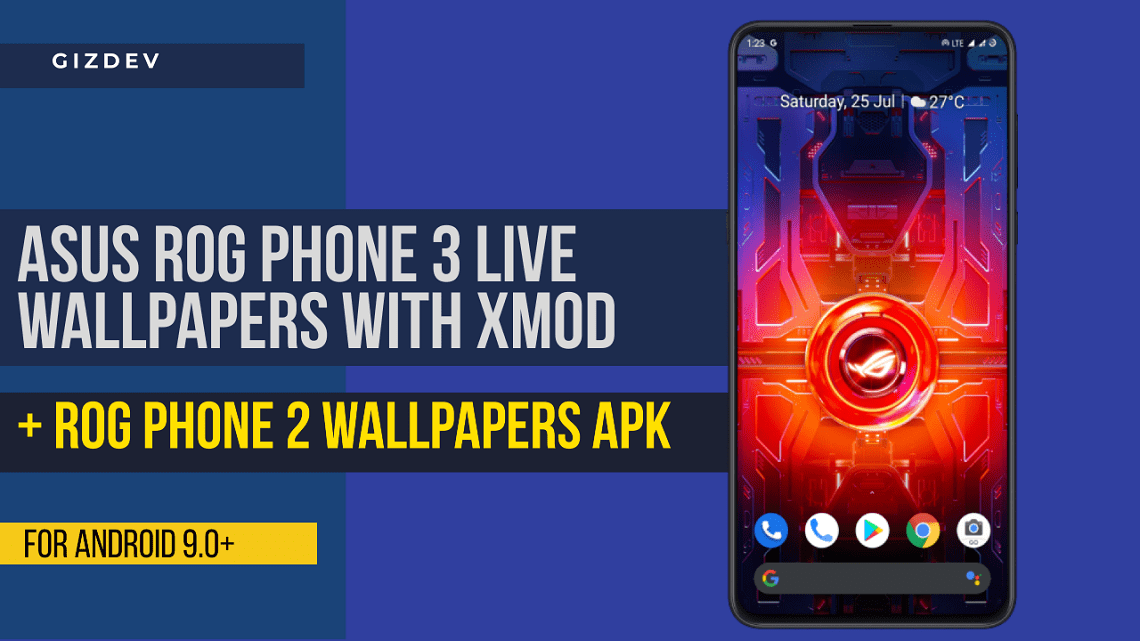 Asus ROG Phone 3 Live Wallpapers APK With X Mode Toggle