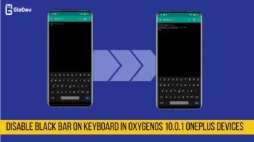 Disable Black Bar On Keyboard In OxygenOS 10.0.1 OnePlus Devices