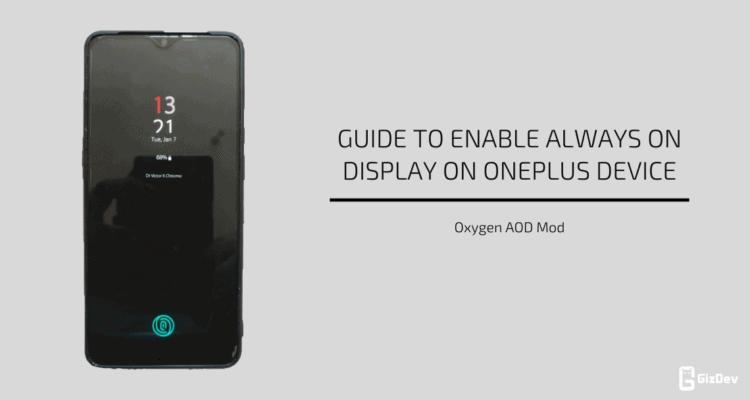 Enable Always On Display On OnePlus Device