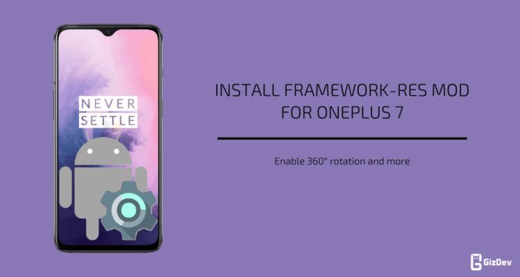 Framework-res Mod for OnePlus 7