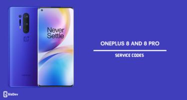 OnePlus 8 Service Codes